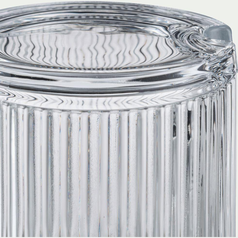 Sucrier en verre côtelé - transparent 39cl-BICOU