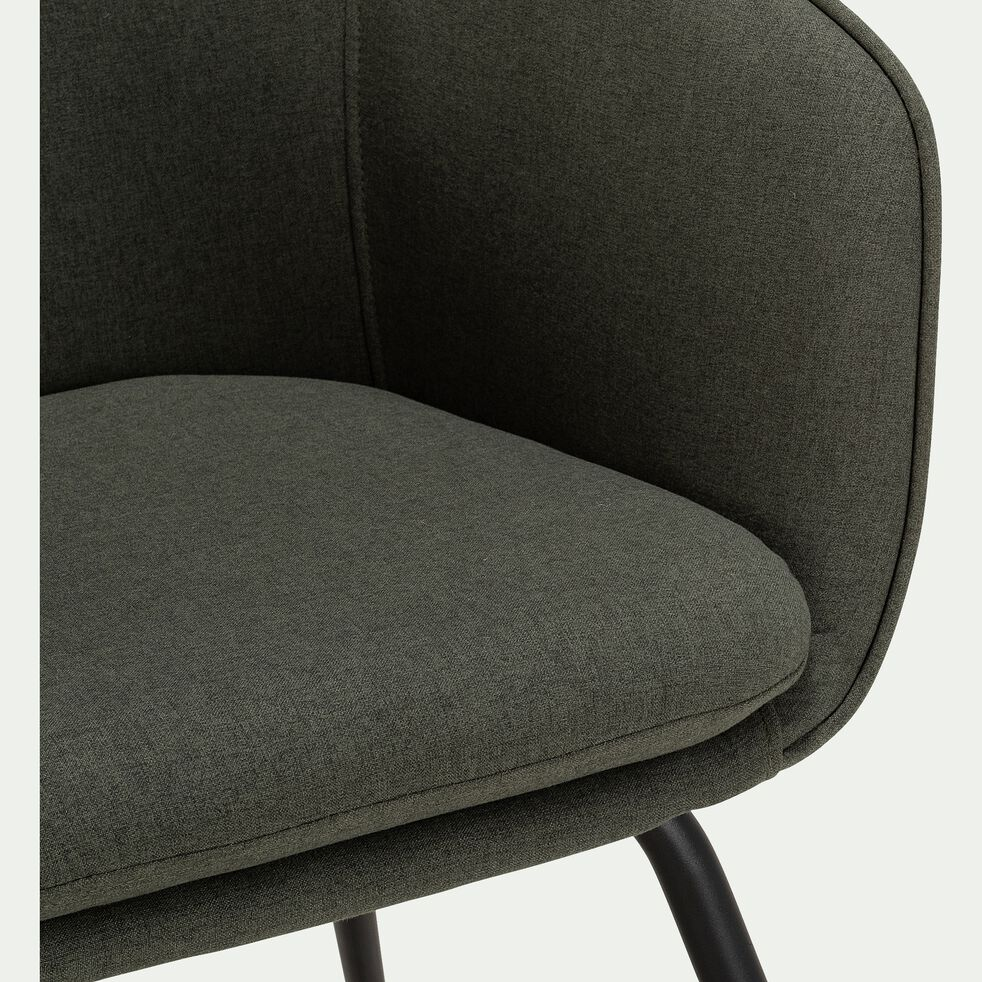 Chaise en tissu  avec accoudoirs - vert cèdre-PELAGIE