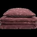 Housse de couette en percale de coton imprimé  240x220 et 2 taies d'oreillers-ATOSIA