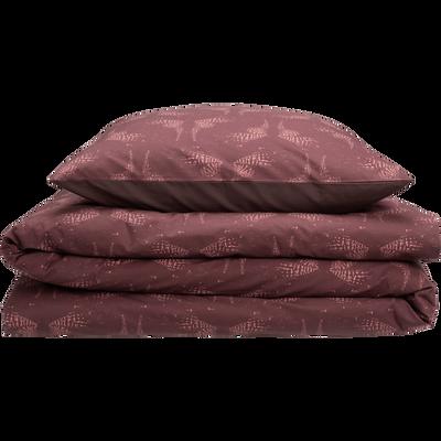 Parure de lit en percale de coton imprimé - 240x220 & 63x63 cm-ATOSIA