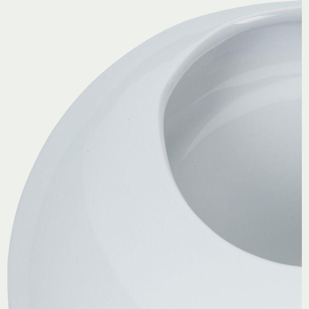 Vase en céramique - P17,5xH8xl18,8cm blanc-ILARIO