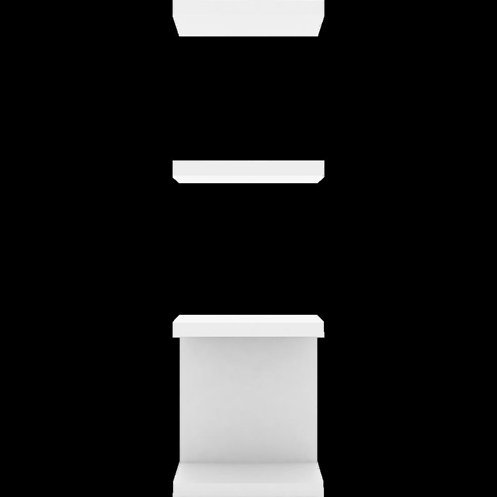 Ensemble d'étagères blanches pour bibliothèque L37,5cm-LORENA