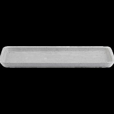 Plateau rectangulaire effet béton L36cm-CALCIS