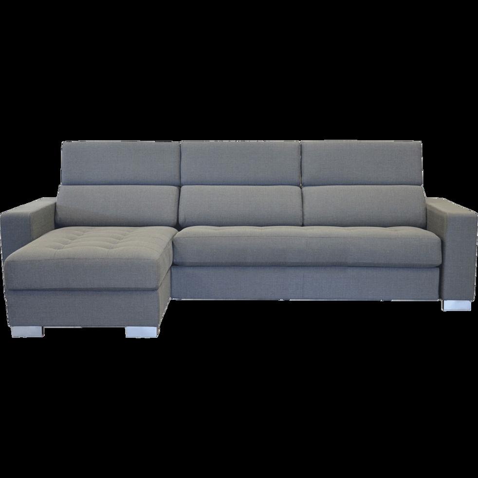 haute couture 090d6 17164 Mauro - Canapé d'angle convertible réversible en tissu gris clair