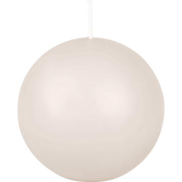 Bougie ronde blanc nougat D10cm-HALBA