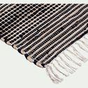 Tapis en coton de t-shirt recyclé et jute - noir L230xl160cm-lieto