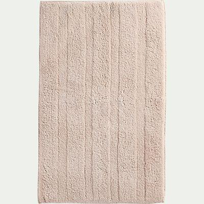 Tapis de bain en coton antidérapant - l50xL80cm rose grège-Gabin