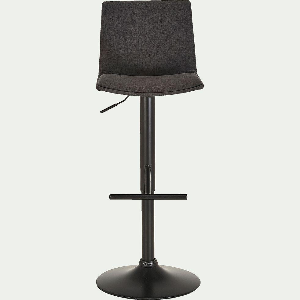 Chaise de bar ajustable en tissu - gris restanque H60 à 81cm-THORONET
