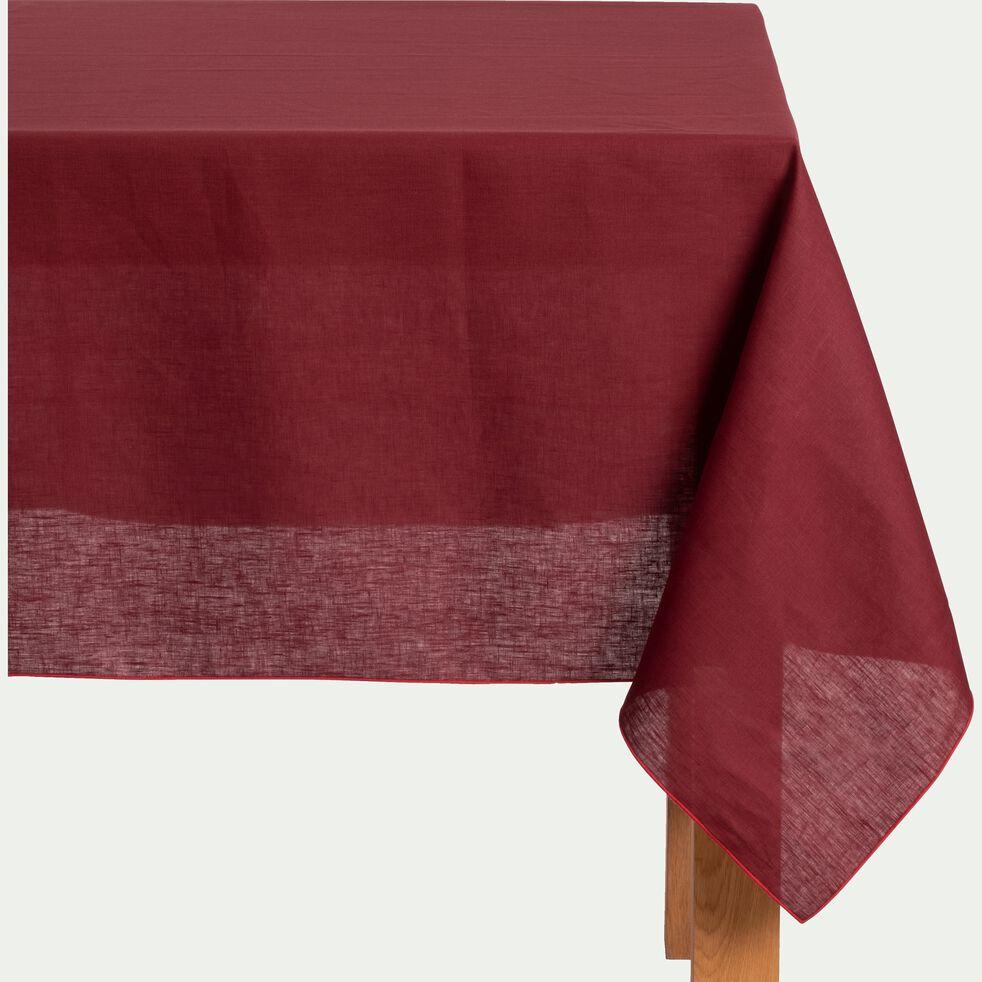 Nappe en lin et coton rouge sumac 170x250cm-MILA