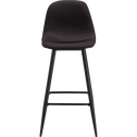 Tabouret de bar en tissu noir calabrun H75cm-CHARLIE