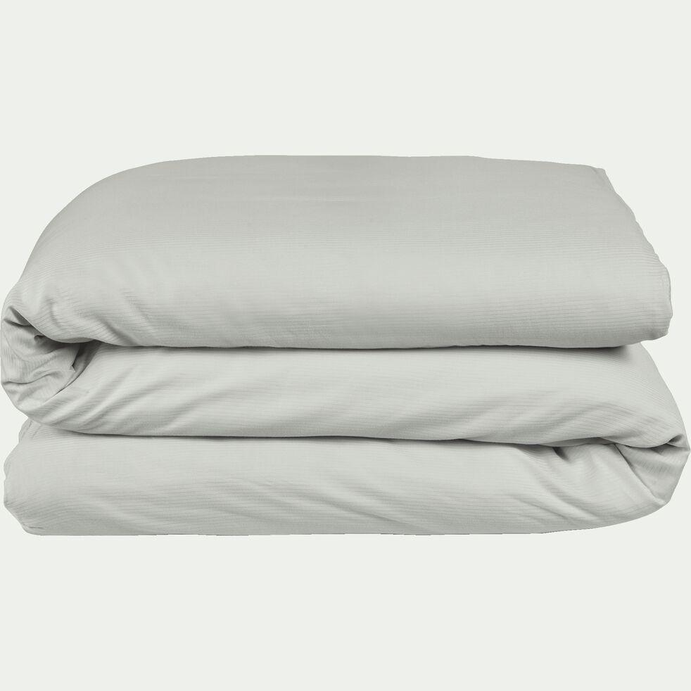 Housse de couette en satin de coton - gris borie 240x220cm-SANTIS