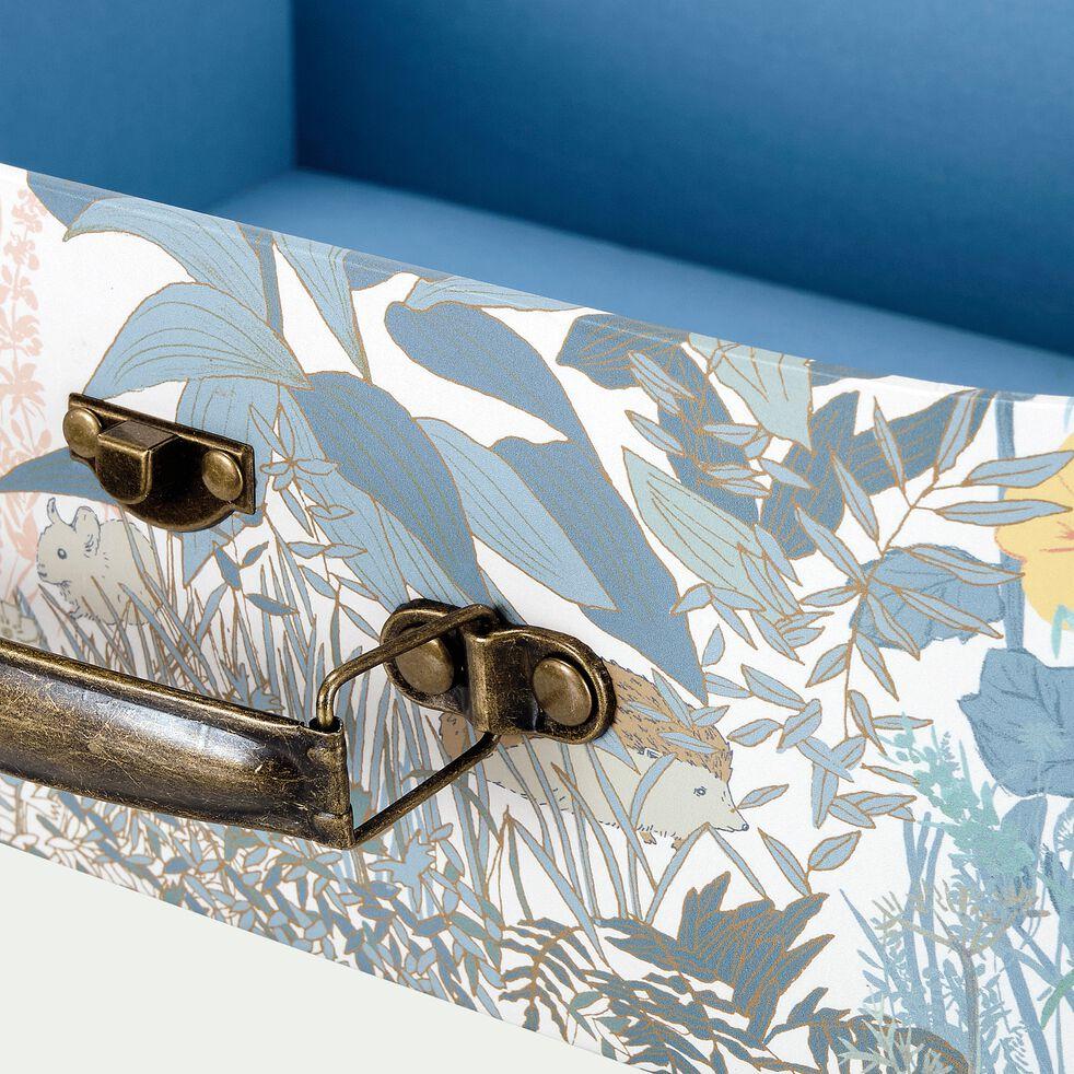 Lot de 2 valisettes décoratives motif prairie-LIMA