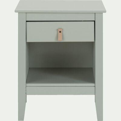 Table de chevet en bois avec tiroir - vert olivier-LISA