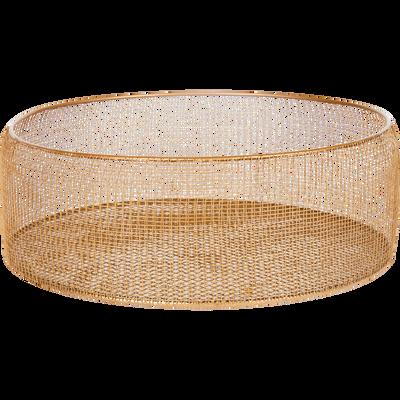Corbeille en métal doré D35cm-MADRASSA