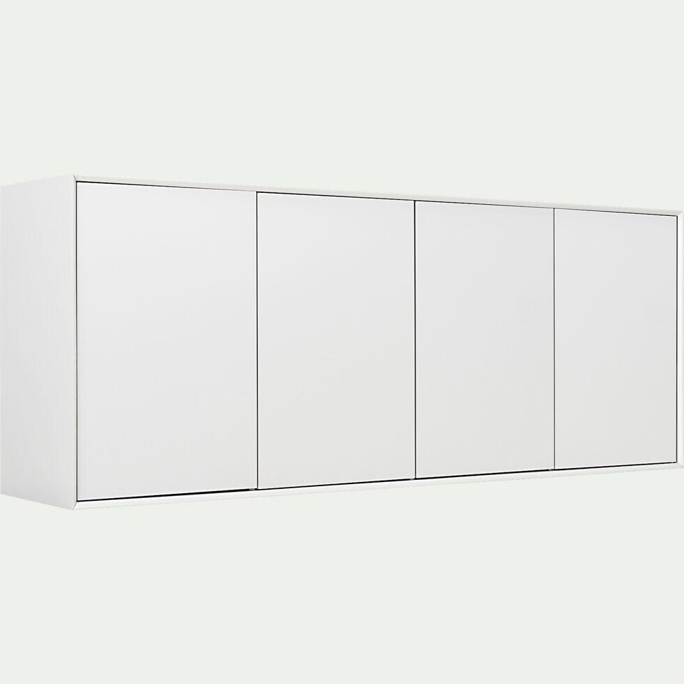 Buffet en bois 4 portes - blanc L180cm-FALCO