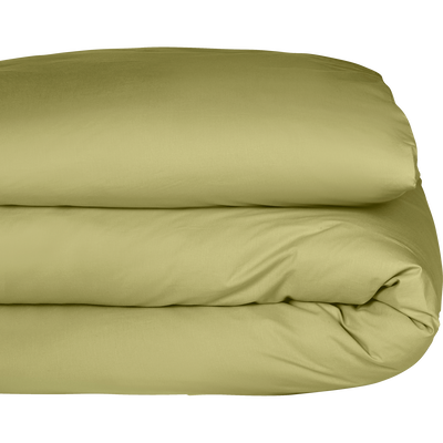 Housse de couette en coton lavé vert guarrigue 140x200 cm-CALANQUES