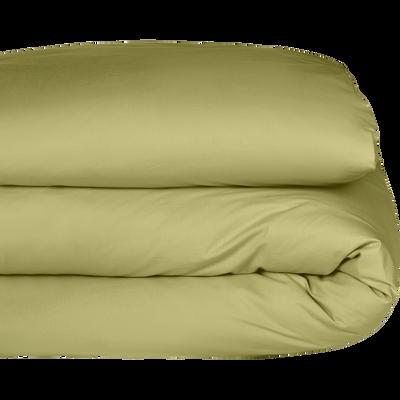 Housse de couette enfant en coton lavé vert guarrigue 140x200cm-CALANQUES