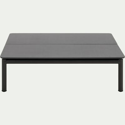 Table basse de jardin en aluminium gris anthracite-ALEX