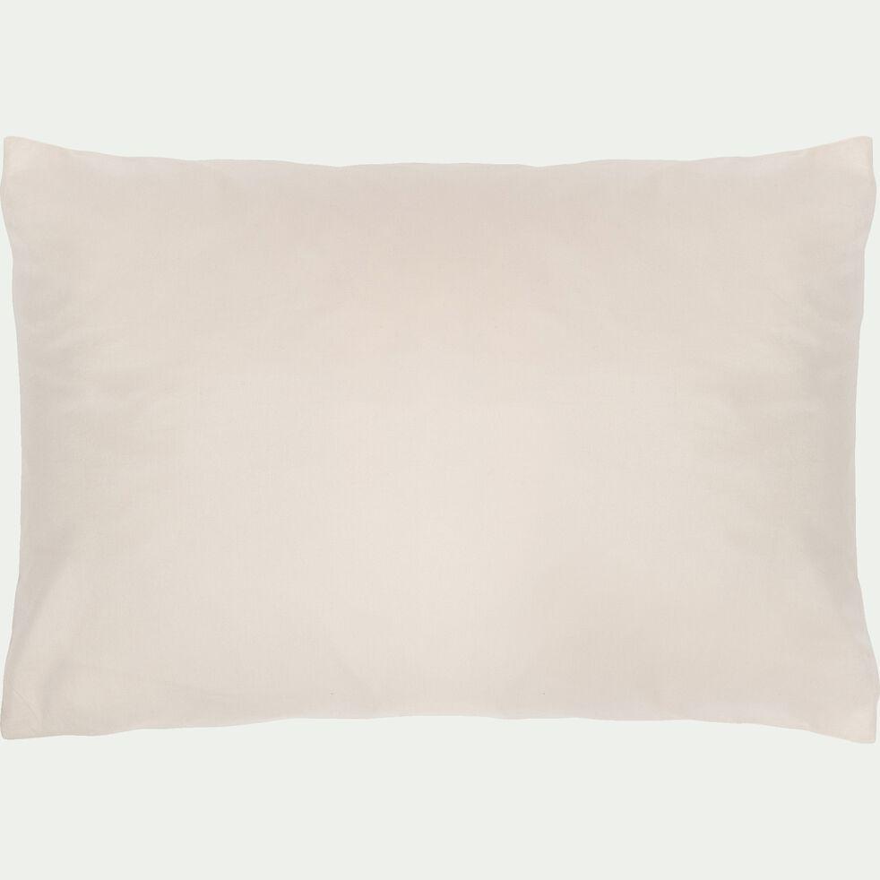 Lot de 2 taies d'oreiller en coton - beige 50x70cm-FINE