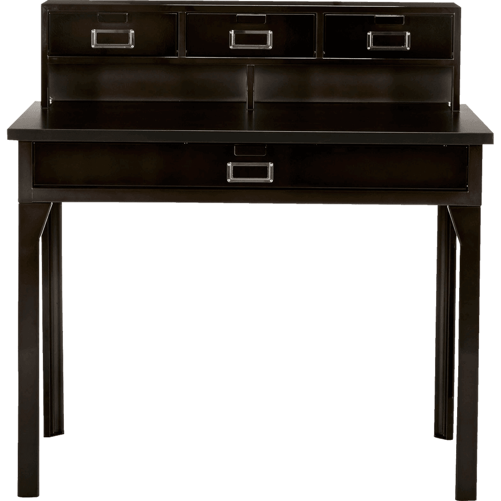 bureau secr taire en acier gris vieilli larsen bureaux alinea. Black Bedroom Furniture Sets. Home Design Ideas