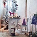 Bureau d'écolier pour enfant en acacia et blanc-Jules