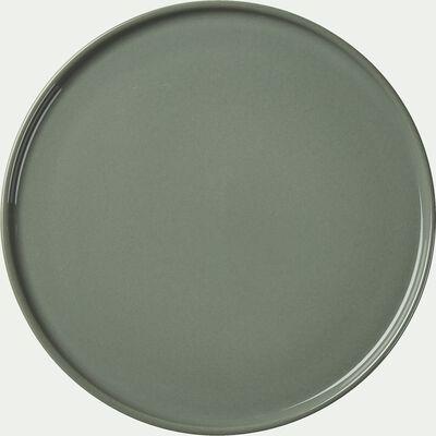 Assiette de présentation en faïence vert cèdre D30cm-VADIM