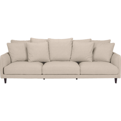 Canapé 6 places fixe en tissu beige roucas-LENITA