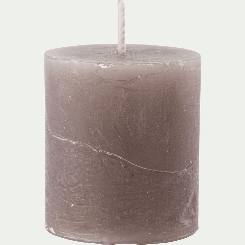 Bougie votive coloris brun châtaignier H4,5cm-BEJAIA