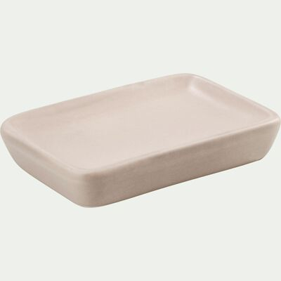 Porte-savon en céramique - beige alpilles-DANA