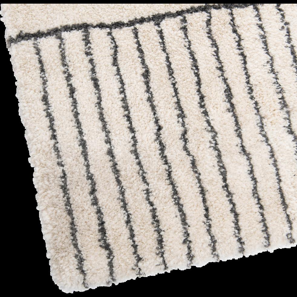 Tapis écru motifs gris 120X170cm-FIDJI