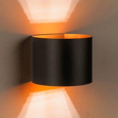 Applique en aluminium noir 10x11x13cm-XIO