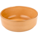 Assiette creuse en faïence beige nèfle D16cm-LANKA