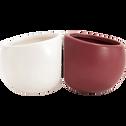 Cache-pot en céramique - blanc - H10xD6cm-mai