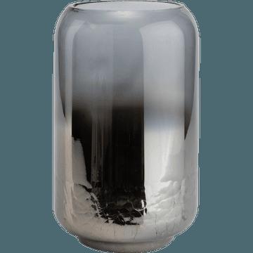 Photophore en verre argenté D15xH25-ZETA
