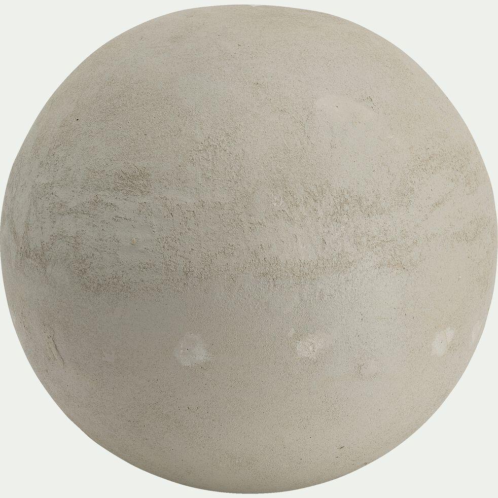 Boule décorative d'extérieur en résine - gris clair D26cm-ATLAN