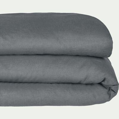 Housse de couette en lin - gris restanque 140x200cm-VENCE