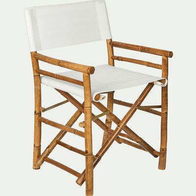 Chaise de jardin avec accoudoirs régisseur en bambou-NIMES