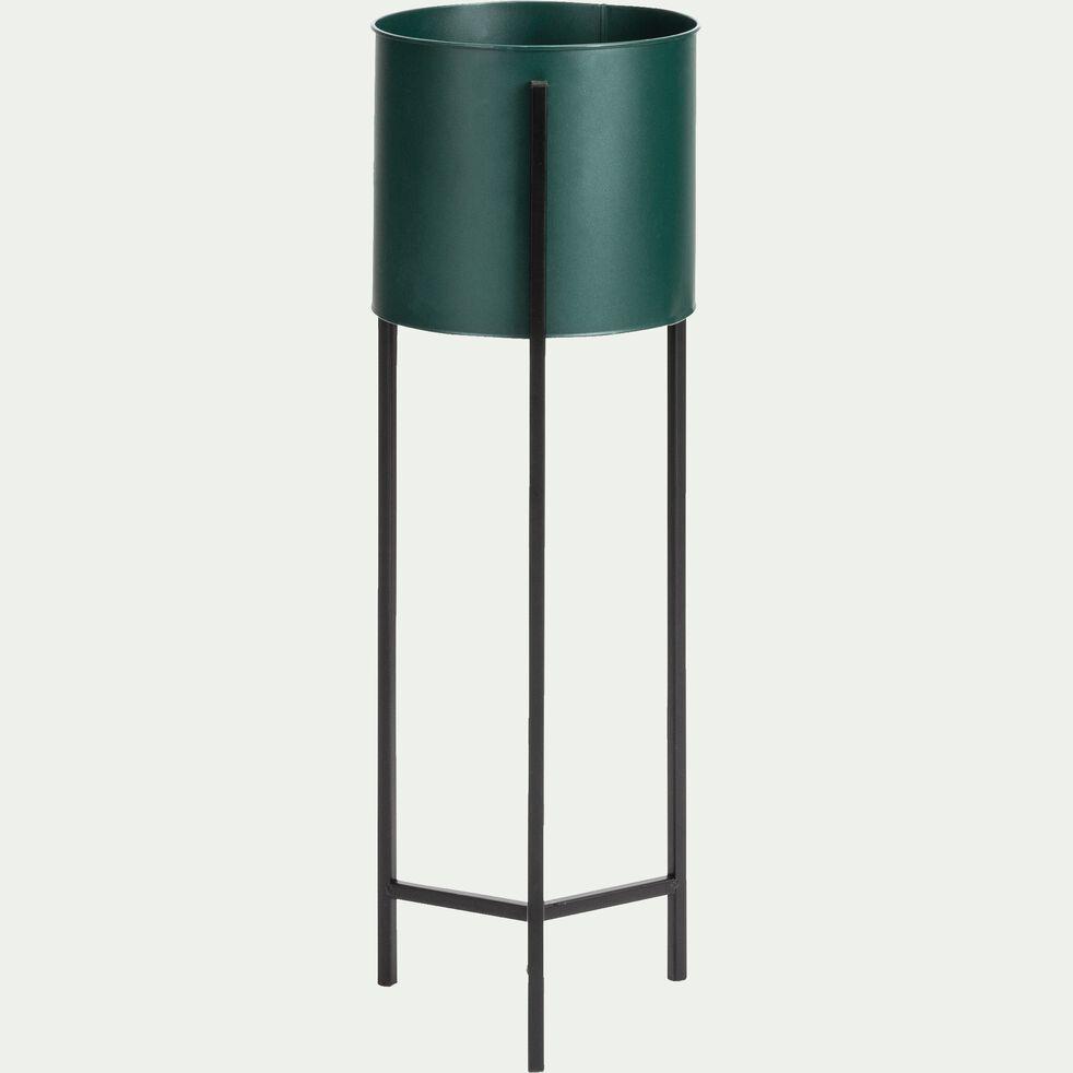 Cache pot sur pied - vert H78xD28cm-Colin