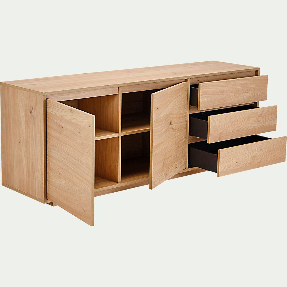 Buffet en bois 2 portes et 2 tiroirs - bois clair-LOMBARDIE