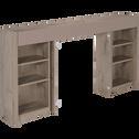 Tête de lit rangeante chêne cendré pour lit L160 cm-BROOKLYN