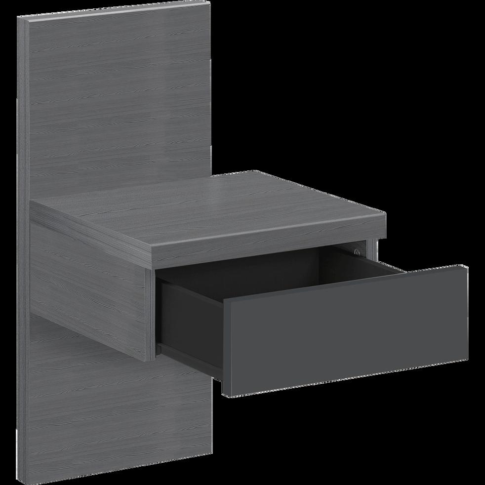 table de chevet grise 1 tiroir brooklyn tables de chevet alinea. Black Bedroom Furniture Sets. Home Design Ideas