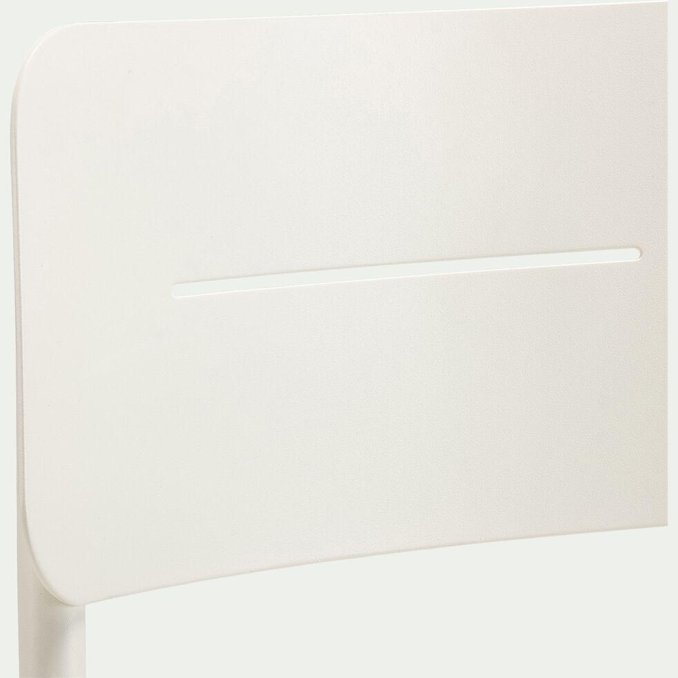 Chaise de jardin empilable en aluminium - blanc-TOMA