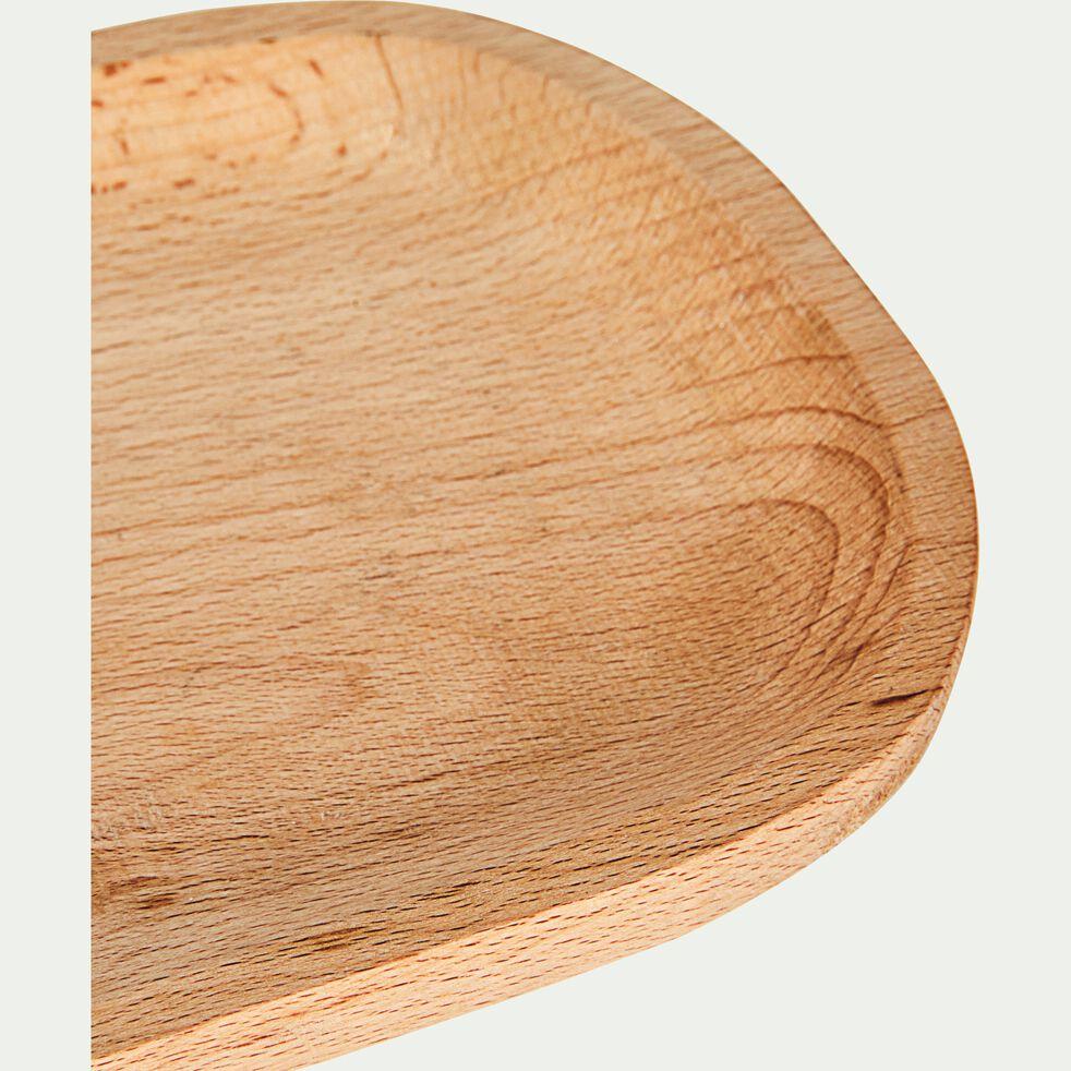 Plateau en bois de hêtre - naturel 14,5x31,5cm-ABIR