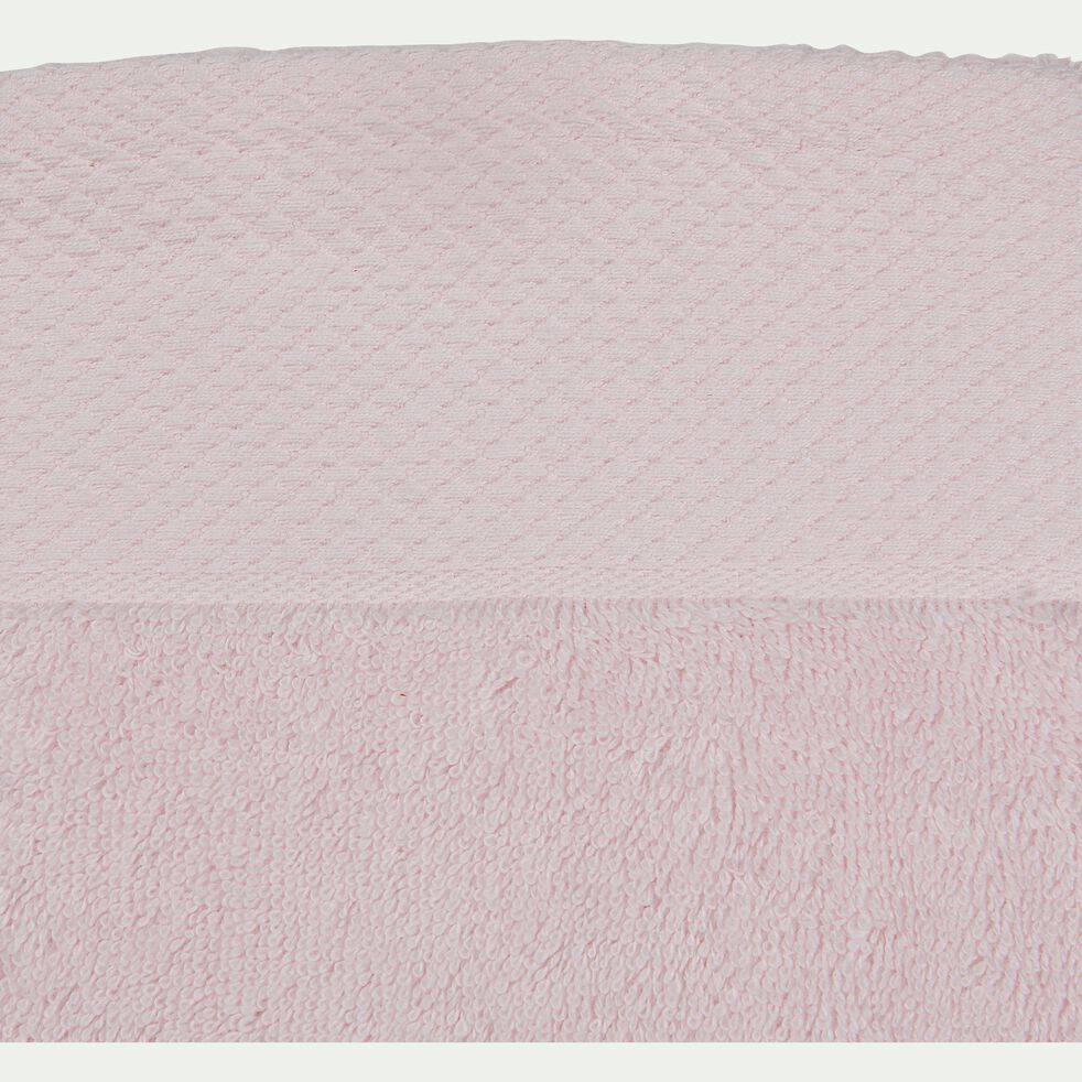 Gant de toilette en coton peigné - rose simos-AZUR