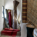 Tapis en laine et coton à franges Rouge 70x220 cm-HAYAA