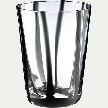 Verre à eau D8xH11cm - noir 24cl-MADERE