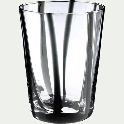 Verre à eau - noir D8xH11cm-MADERE
