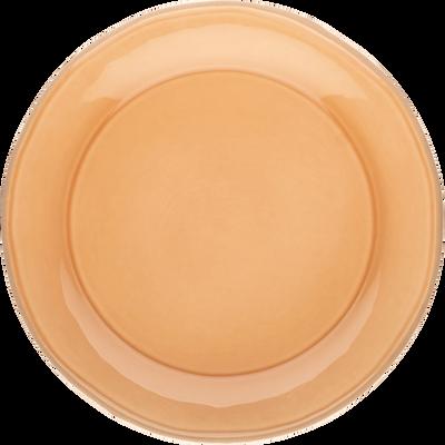 Assiette plate en faïence beige nèfle D27cm-LUBERON