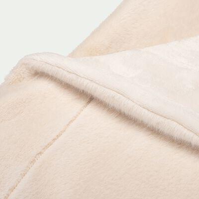 Plaid imitation fourrure - blanc écru 130x170cm-DUCI