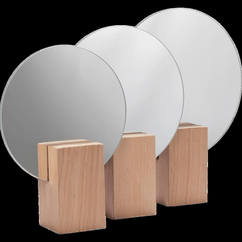 Miroir rond en bois D20cm-SOLSTICE